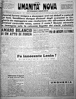 Humanity Nova(9/12/1956), cuerpo de propaganda de la UAI y luego dela Federación Anarquista Italiana