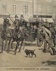 Representación del ataque dePaolo Legacontra Crispi (Roma, 16-06-1894) para vengar larepresión de Lunigiana